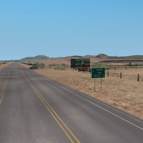 Mexican Water Interchange looking East towards New Mexico