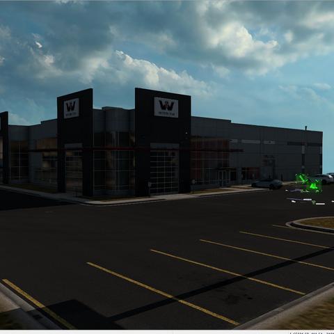 Western Star Trucks dealership prefab found in the map editor in 1.38 Open Beta.