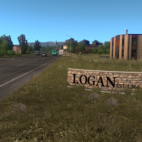 Entrance sign of Logan