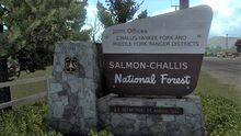 Salmon-Challis National Forest sign