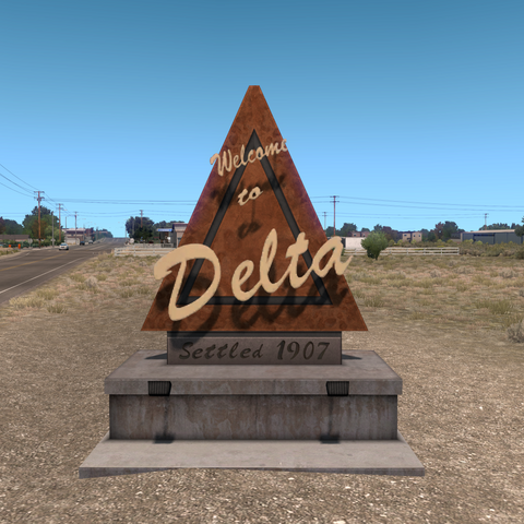 Welcome to Delta sign
