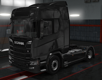 Scania R pure black metallic