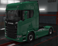 Scania S eucalyptus green
