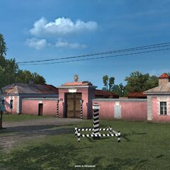 Post station in Vyra, south of <a href=