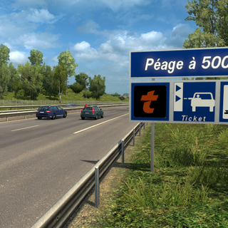 Autoroute Péage sign