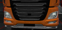 Daf xf euro 6 lower grille guard pride