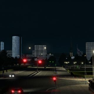 Base game night view