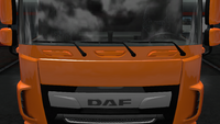 Daf xf euro 6 windshield frame paint