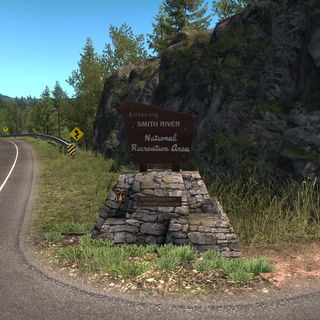 Smith River National Recreation Area entrance sign