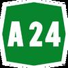 Italy A24 shield