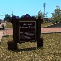 Historical Marker at Roswell Pioneer Plaza