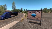 Weed Town Entrance Sign 1