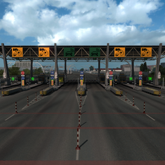 Toll gate in Russia (2)