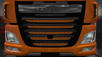 Daf xf euro 6 front grille dash