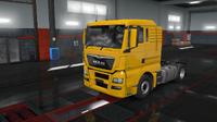 MAN TGX Euro 6 yellow
