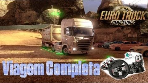 Euro truck Simulator 2 - Viagem levando combustível completa! Logitech G27
