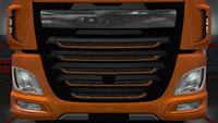 Daf xf euro 6 front grille outline paint