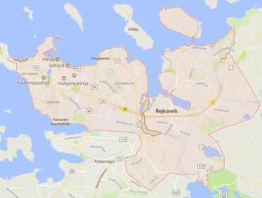 Reykjavik - mapa