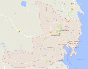 Thorshavn - mapa