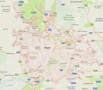 Rzym - mapa