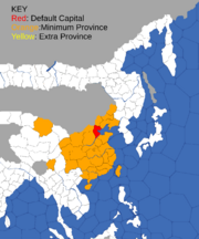 """Map showing provinces that can form China """