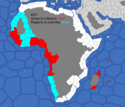 """Map showing African provinces French countries will try to colonise"""