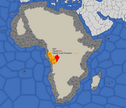 map showing Kongo's starting position