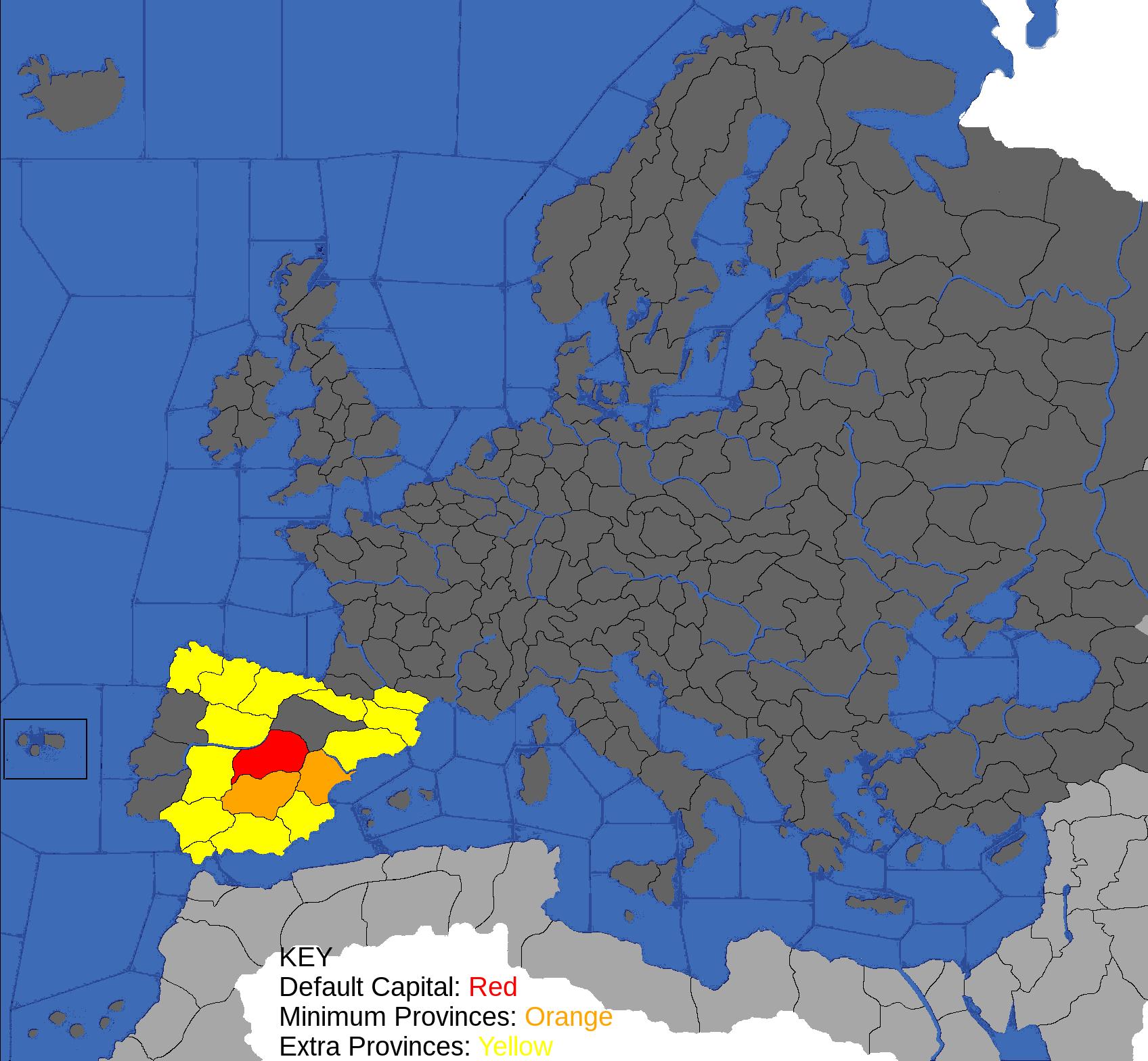Map Of Spain 1492.Spain Europa Universalis Ii Eu Wiki Fandom Powered By Wikia
