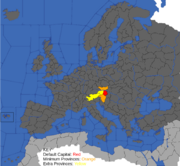 """Map showing provinces that can form Austria"""
