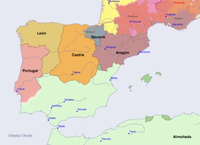 Kingdom Of Portugal Europe Wiki FANDOM Powered By Wikia - Portugal map in 1200