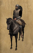Castillian Squire mounted