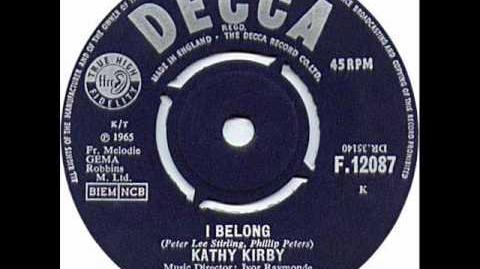 "Kathy Kirby - ""I Belong"""