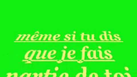 """Versión de estudio (""""Je n'ai que mon âme"""")"""