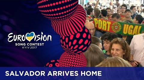 Salvador Sobral gets welcomed home with open arms!-0
