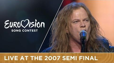 Eiríkur Hauksson - Valentine Lost (Iceland) Live 2007 Eurovision Song Contest
