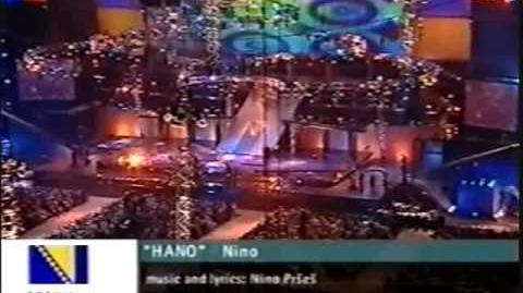 Eurovision 2001 Bosnia-Herzegovina - Nino Pršeš - Hano