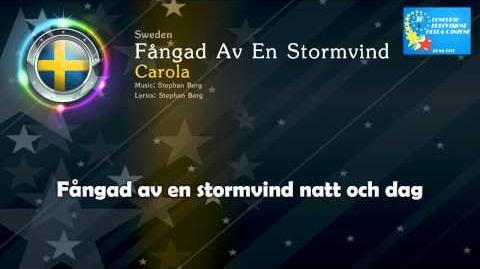 """1991 Carola - """"Fångad Av En Stormvind"""" (Sweden)"""