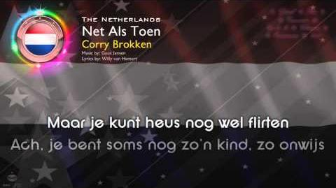 "1957 Corry Brokken - ""Net Als Toen"" (The Netherlands)"