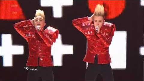 "Ireland ""Lipstick"", Jedward - Eurovision Song Contest Semi Final 2011 - BBC Three"