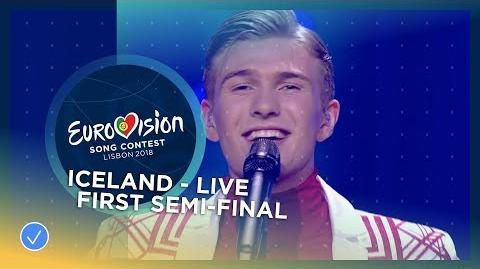 Ari Ólafsson - Our Choice - Iceland - LIVE - First Semi-Final - Eurovision 2018