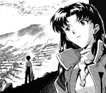 Misato en el manga de NGE