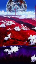 Rebuild of Evangelion paisaje tintes surrealistas