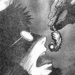 Gendo swallows Adam