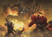 "Transformers x Evangelion- Transformers mode ""EVA"" Chapter 1 cover"