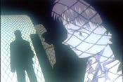 Shinji en prisión, ante Gendo EP19