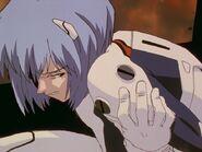 Rei Ayanami durante el ataque de Bardiel
