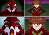 Asuka le habla al EVA02 Eva 22DC
