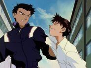 Toji golpea a Shinji Episodio 3