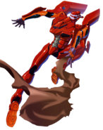 Evangelion Unit 02 Jumping
