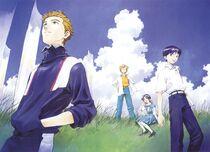 Shinji Toji Kensuke y Hikari (manga)